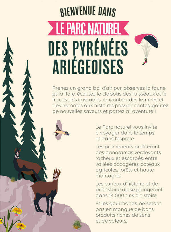 Pyrenees Ariegeoises Natural Park illustrated guide