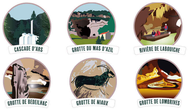 Illustrations for Pyrenees Ariegeoises Natural Park map