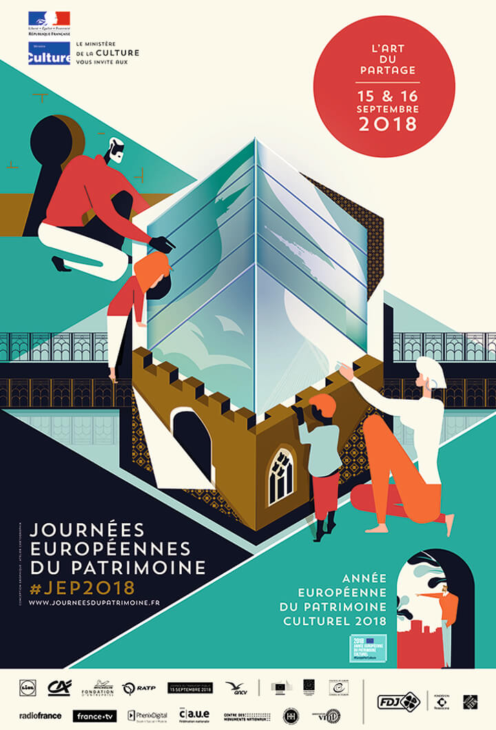 French European Heritage Days Poster