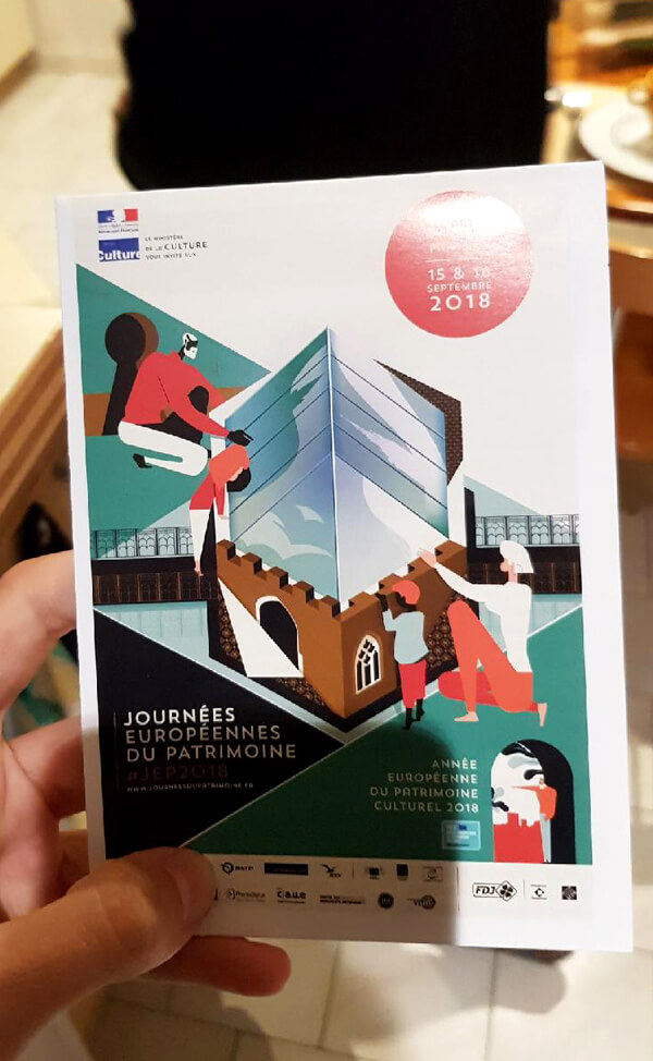 French European Heritage Days brochure