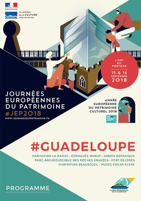 French European Heritage Days 2018 Guadeloupe Poster